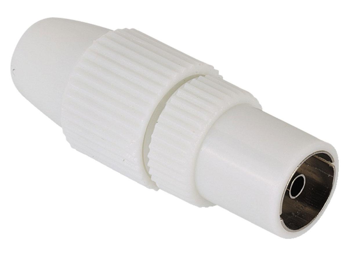 Штекер Hama H-44148 антенный коаксиальный (f) 5-7 мм, White44148Hama H-44148 - антенный штекер для коаксиальных кабелей диаметром от 5 до 7 мм.