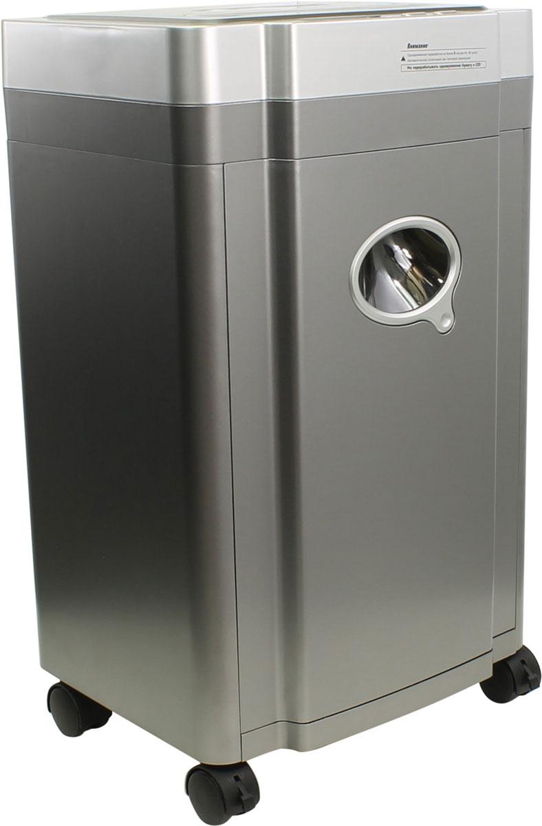 Шредер Buro BU-C968NBU-C968NПерсональный шредер на 8 листов Buro BU-C968N предназначен для быстрого и эффективного уничтожения бумаги в процессе делопроизводства. Данная модель имеет функцию автореверса, а также вместительную извлекаемую корзину объемом 24 литра. Время непрерывной работы составляет 10 минут. Помимо основной функции, устройство также может перерабатывать скрепки, компакт-диски и кредитные карты.