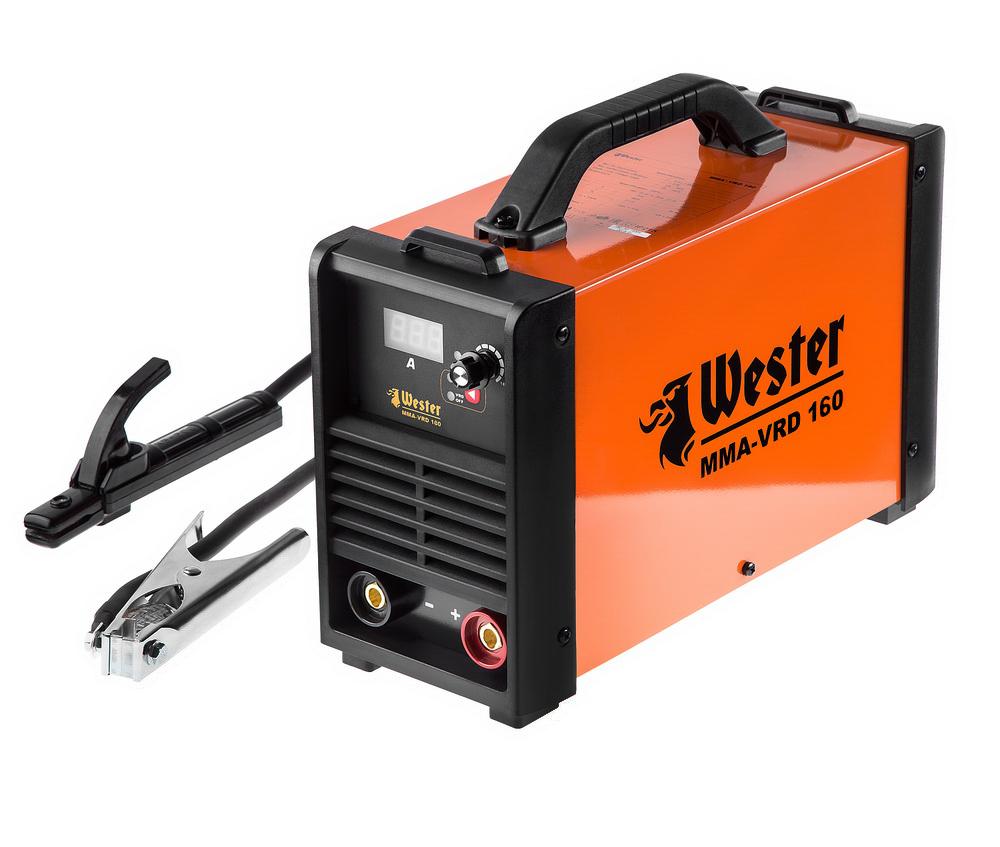 Инвертор сварочный Wester MMA-VRD 160284336Инверторные сварочные аппараты серии MMA-VRD, идеально подойдут как для начинающих сварщиков, так и для профессионалов. Применяются для сварки плавящимися электродами с рутиловым, основным и целлюлозным покрытием. ПРЕИМУЩЕСТВА: + Работа в условиях нестабильного напряжения. + Регулятор силы тока - позволяет точно настроить значение тока. Для большего удобства, имеет шкалу соответствия диаметра электрода и значений сварочного тока. + ЖК-экран - позволяет установить значение силы сварочного тока с точностью до 1А + ПВ фактор, при максимальном значении тока, составляет 70%, что дает возможность использовать аппарат на профессиональном уровне при продолжительных нагрузках + Встроенная термозащита, сохранит инвертор в случае превышения допустимых значений рабочей температуры + Возможность работы при падении напряжения в сети до 120 В. COS f 0,99 обеспечивает максимальный КПД использования сети + Anti Stick - предотвращает прилипание...