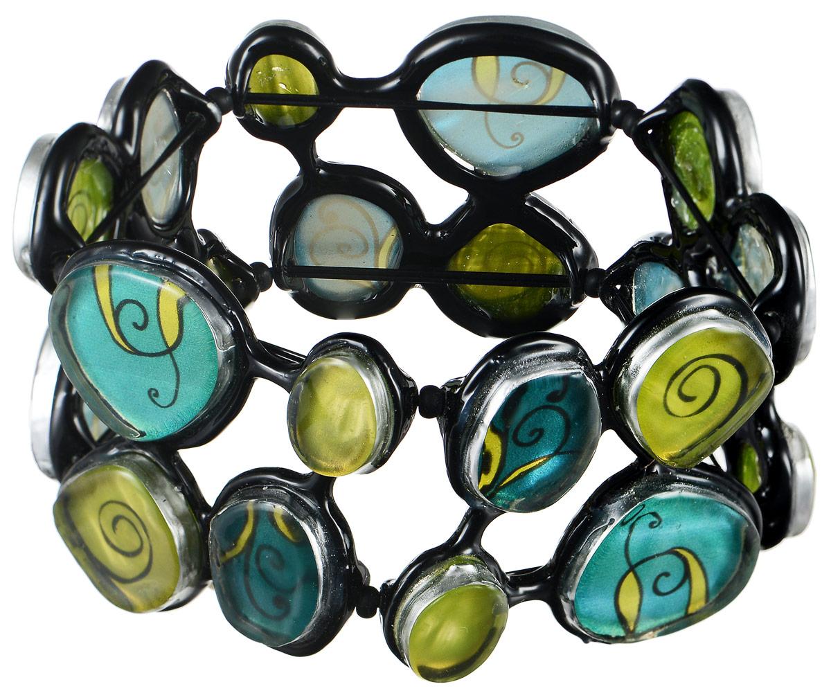 Браслет Lalo Treasures Dragonfly IV, цвет: зеленый, салатовый, черный. B2544-1B2544-1Оригинальный браслет Lalo Treasures Dragonfly IV выполнен из ювелирной смолы и металлического сплава. Декоративные элементы собраны на эластичной основе, которая делает размер изделия универсальным и позволит браслету идеально разместиться на запястье. Стильное украшение поможет дополнить любой образ и привнести в него завершающий яркий штрих.
