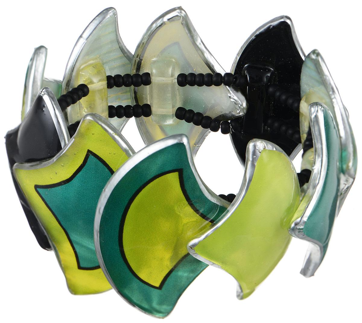 Браслет Lalo Treasures Dragonfly III, цвет: зеленый, черный, салатовый. B2536-1B2536-1Оригинальный браслет Lalo Treasures Dragonfly III выполнен из ювелирной смолы. Декоративные элементы собраны на эластичной основе, которая делает размер изделия универсальным и позволит браслету идеально разместиться на запястье. Стильное украшение поможет дополнить любой образ и привнести в него завершающий яркий штрих.