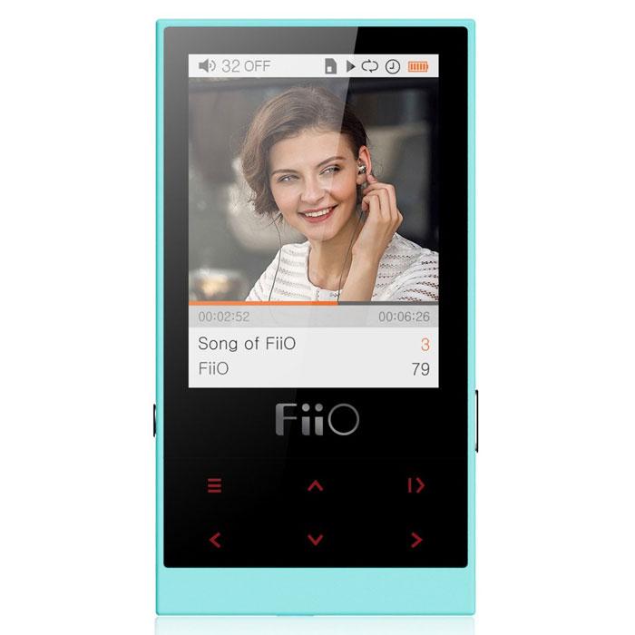 Fiio M3, Cyan MP3-плеер15118390Корпус Fiio M3, выполненный литьем под высоким давлением, и гармоничная цветовая гамма формируют сдержанный эстетический посыл. Матовое покрытие с защитой от ультрафиолета предназначено для того, чтобы плеер было удобно держать в руке. Шесть кнопок управления с подсветкой на передней панели, выполненные на общей динамической панели, дают доступ ко всем функциям навигации по нажатию (удержанию) пальца. FiiO M3 работает 24 часа в режиме непрерывного воспроизведения, позволяя наслаждаться музыкой нон-стоп в течение длительных поездок.