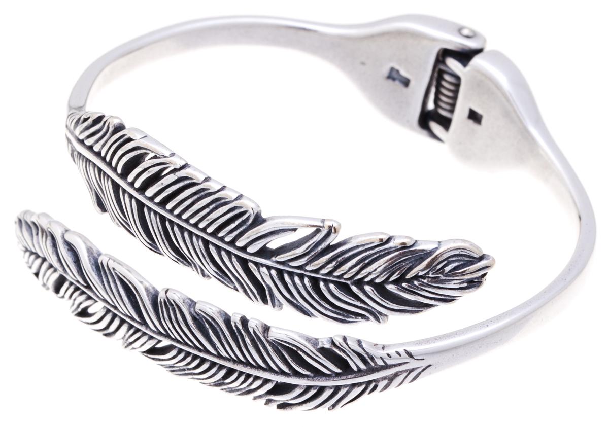 Jenavi, Коллекция Feather, Лума (Браслет), цвет - сереброf6793490Коллекция Feather, Лума (Браслет) гипоаллергенный ювелирный сплав,Черненое серебро, вставка без вставок, цвет - серебро