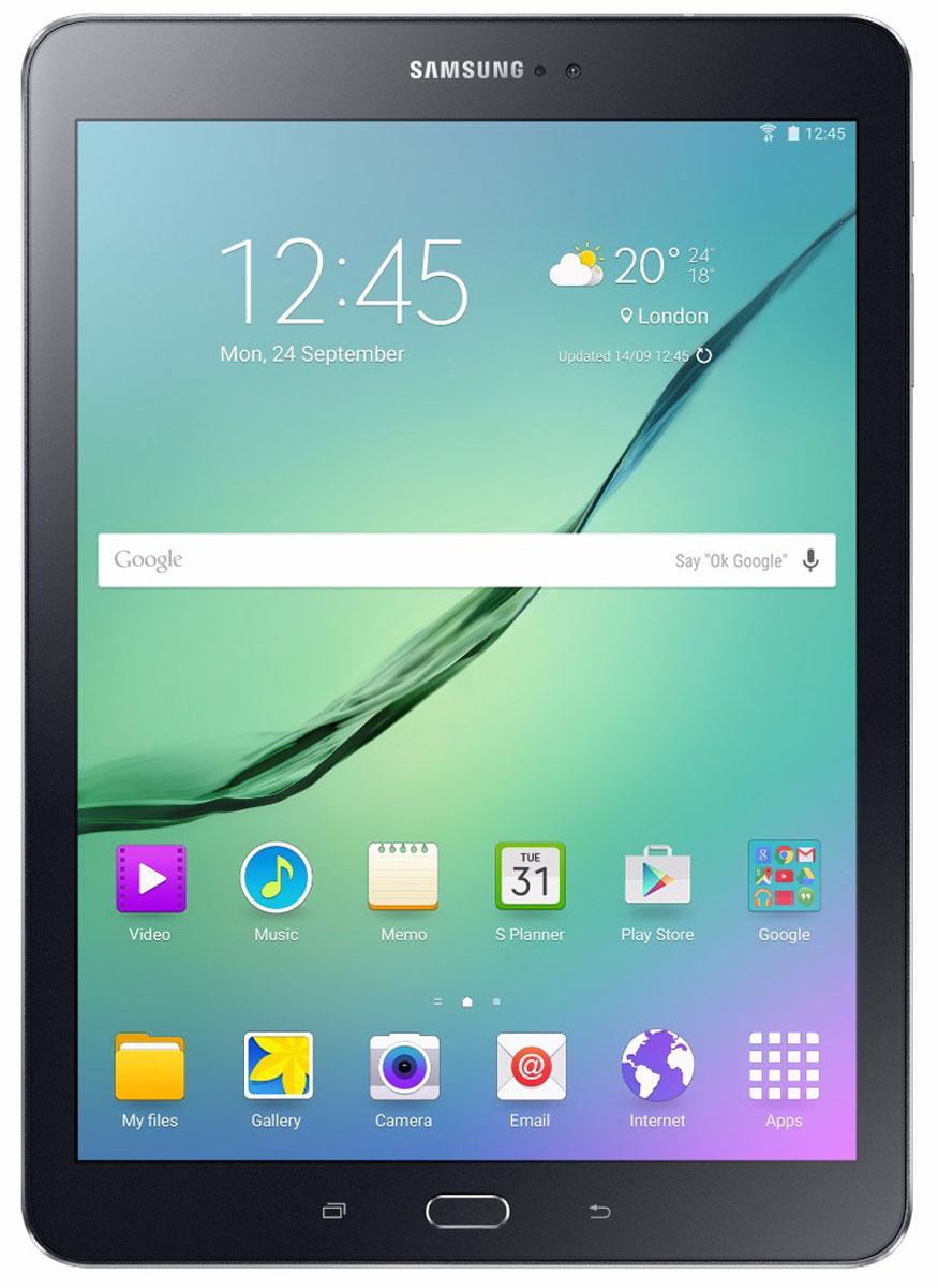Samsung Galaxy Tab S2 9.7 SM-T819, BlackSM-T819NZKESERПланшет Samsung Galaxy Tab S2 выполнен из цельно металлического корпуса с толщиной всего 5.6 миллиметров и по праву является самым тонким планшетом в мире. При весе всего 389 грамм и диагональю 9.7 дюймов является еще и самым лёгким в своём сегменте. Стоит отметить и форм-фактор дисплея, с соотношение сторон 4:3, с таким дисплеем гораздо комфортнее пользоваться социальными сетями и интернет браузером или просто читать книгу. Планшет Samsung Galaxy Tab S2 обладает потрясающим Super AMOLED дисплеем с разрешением 2048x1536 пикселей. Два четырёхъядерных процессора с частотой 1,4 ГГц и 1,8 ГГц Qualcomm Snapdragon 652 MSM8976. Основная камера, делает отличные фото даже при слабом освещении, благодаря 8 мегапикселям и светосилы 1.9, а фронтальная, 2.1 мегапикселя для скайпа и селфи. Для зашиты персональных данных воспользуйтесь инновационным сканером отпечатка пальцев. Или блокируйте планшет по отпечатку. Чтобы разблокировать, просто прикоснитесь с ...