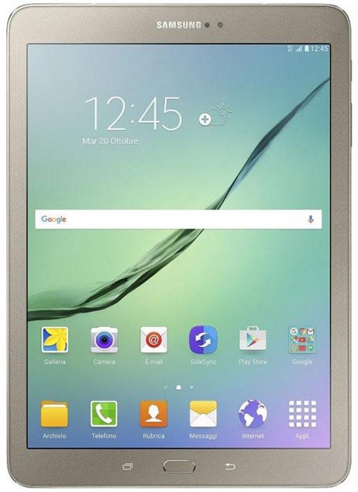 Samsung Galaxy Tab S2 9.7 SM-T819, GoldSM-T819NZDESERПланшет Samsung Galaxy Tab S2 выполнен из цельно металлического корпуса с толщиной всего 5.6 миллиметров и по праву является самым тонким планшетом в мире. При весе всего 389 грамм и диагональю 9.7 дюймов является еще и самым лёгким в своём сегменте. Стоит отметить и форм-фактор дисплея, с соотношение сторон 4:3, с таким дисплеем гораздо комфортнее пользоваться социальными сетями и интернет браузером или просто читать книгу. Планшет Samsung Galaxy Tab S2 обладает потрясающим Super AMOLED дисплеем с разрешением 2048x1536 пикселей. Два четырёхъядерных процессора с частотой 1,4 ГГц и 1,8 ГГц Qualcomm Snapdragon 652 MSM8976. Основная камера, делает отличные фото даже при слабом освещении, благодаря 8 мегапикселям и светосилы 1.9, а фронтальная, 2.1 мегапикселя для скайпа и селфи. Для зашиты персональных данных воспользуйтесь инновационным сканером отпечатка пальцев. Или блокируйте планшет по отпечатку. Чтобы разблокировать, просто прикоснитесь с ...