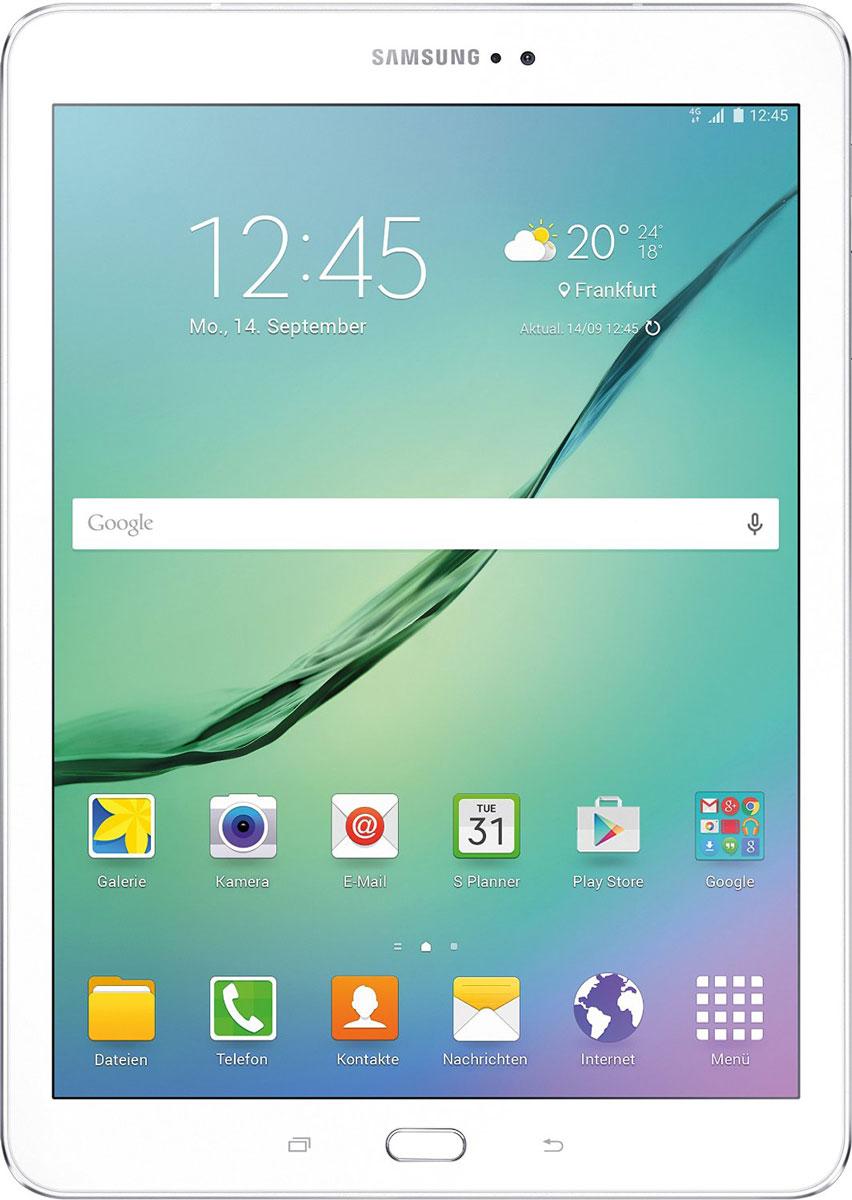 Samsung Galaxy Tab S2 8.0 SM-T719, WhiteSM-T719NZWESERПланшет Samsung Galaxy Tab S2 выполнен из цельно металлического корпуса с толщиной всего 5.6 миллиметров и по праву является самым тонким планшетом в мире. При весе всего 272 грамма и диагональю 8 дюймов является еще и самым лёгким в своём сегменте. Стоит отметить и форм-фактор дисплея, с соотношение сторон 4:3, с таким дисплеем гораздо комфортнее пользоваться социальными сетями и интернет браузером или просто читать книгу. Планшет Samsung Galaxy Tab S2 обладает потрясающим Super AMOLED дисплеем с разрешением 2048x1536 пикселей. Два четырёхъядерных процессоров с чистотой 1,9 ГГц и 1,3 ГГц, 3 гигабайта оперативной памяти и 32 встроенной, которую можно увеличить картой памяти MicroSD до 128 гигабайт. Основная камера, делает отличные фото даже при слабом освещении, благодаря 8 мегапикселям и светосилы 1.9, а фронтальная, 2.1 мегапикселя для скайпа и селфи. Для зашиты персональных данных воспользуйтесь инновационным сканером отпечатка пальцев. Или блокируйте...