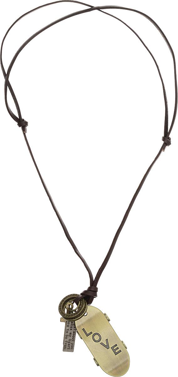 """Кулон Mitya Veselkov """"Love Skate"""", цвет: темно-коричневый, бронзовый. PDV-65"""