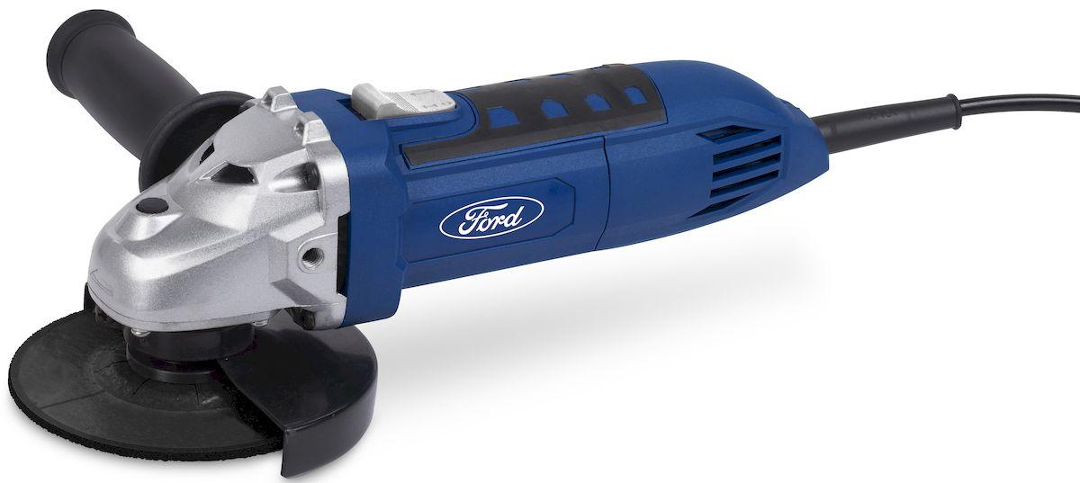 Угловая шлифмашина Ford FE1-2010000000168Угловая шлифмашина Ford FE1-20. Функциональное использование: шлифование, обдирка и резка изделий из твердых материалов. Двигатель мощностью 600 Вт. Рабочий элемент инструмента - диск диаметром до 115 мм. Боковая рукоятка может быть установлена в двух позициях. Особенности: 1. Блокировка кнопки включения. 2. Двухпозиционная установки дополнительной ручки. 3. Защитный кожух. Комплектация: 1. Инструмент (УШМ). 2. Дополнительная рукоятка. 3. Ключ. 4. Руководство пользователя. 5. Цветная картонная упаковка.