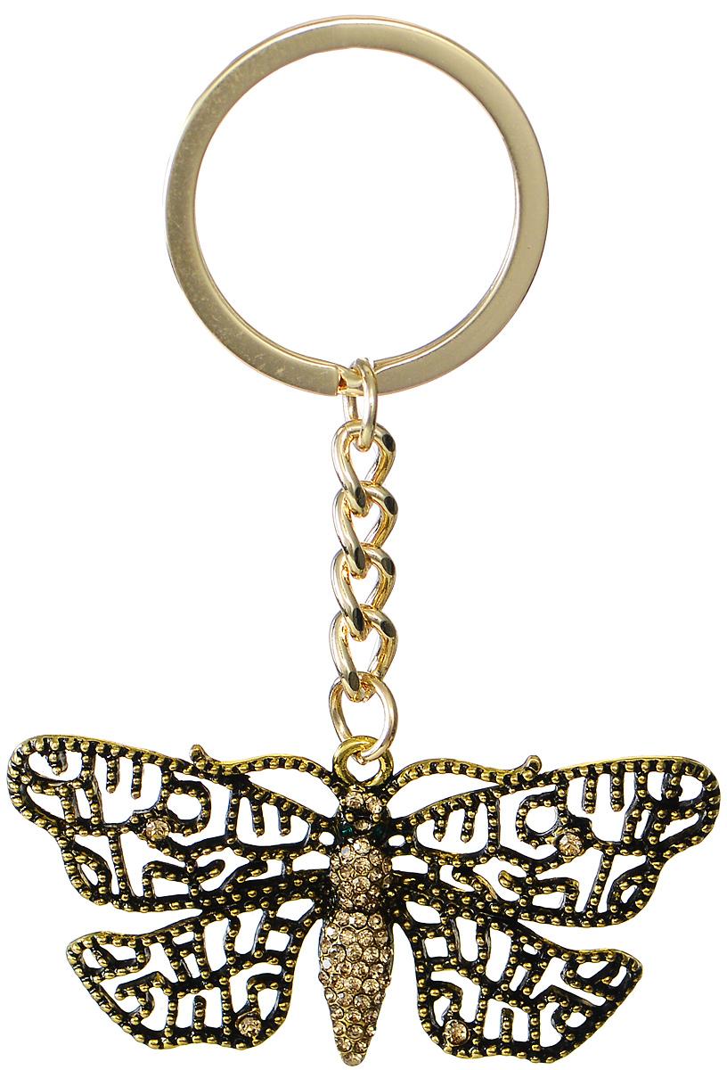 Брелок женский Mitya Veselkov, цвет: золотой. BRELOK-BABOCHKA2BRELOK-BABOCHKA2Оригинальный брелок для ключей Mitya Veselkov изготовлен из металлического сплава с чернением. Объемный декоративный элемент выполнен в виде красивой бабочки, украшенной стразами. Замок брелока представлен в виде заводного кольца. Мелочей в образе не бывает, поэтому внимания требуют даже брелоки для ключей, ведь так приятно открывать дверь любимого дома ключом с красивым брелоком.