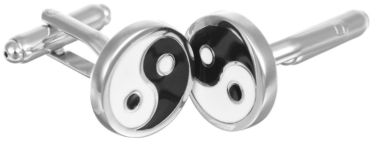 Запонки мужские Mitya Veselkov Инь-Янь, цвет: серебряный, черный, белый. ZAP-088ZAP-088Запонки современного дизайна Mitya Veselkov Инь-Янь изготовлены из металлического сплава. Изделие застегивается на вращающийся штырек. Данная модель представлена в виде китайского символа Инь-Янь. Стильный аксессуар подчеркнет ваш образ, а также придаст элегантность и неповторимость имиджу.