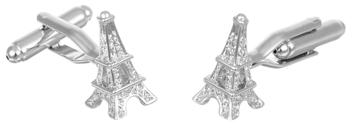 Запонки мужские Mitya Veselkov Эйфелева башня, цвет: серебряный. ZAP-176ZAP-176Запонки современного дизайна Mitya Veselkov Эйфелева башня изготовлены из металлического сплава. Изделие застегивается на вращающийся штырек. Данная модель представлена в виде Эйфелевой башки. Стильный аксессуар подчеркнет ваш образ, а также придаст элегантность и неповторимость имиджу.