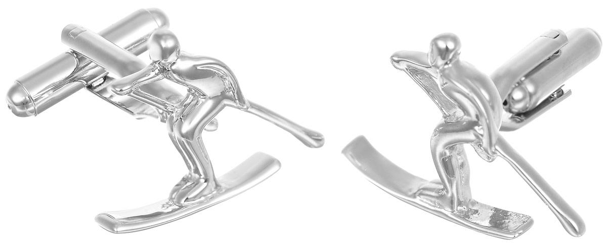 Запонки мужские Mitya Veselkov Лыжники, цвет: серебряный. ZAP-172ZAP-172Запонки современного дизайна Mitya Veselkov Лыжники изготовлены из металлического сплава. Изделие застегивается на вращающийся штырек. Данная модель представлена в виде фигурки лыжника. Стильный аксессуар подчеркнет ваш образ, а также придаст элегантность и неповторимость имиджу.