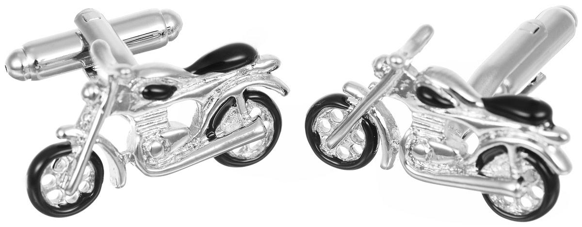 Запонки мужские Mitya Veselkov Спортбайк, цвет: серебряный, черный. ZAP-139ZAP-139Запонки современного дизайна Mitya Veselkov Спортбайк изготовлены из металлического сплава. Изделие застегивается на вращающийся штырек. Данная модель представлена в виде спортивного мотоцикла. Стильный аксессуар подчеркнет ваш образ, а также придаст элегантность и неповторимость имиджу.
