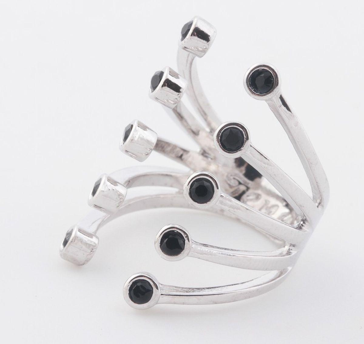 Jenavi, Коллекция Триада, Пурина (Кольцо), цвет - серебряный, черный, размер - 20f694f060Коллекция Триада, Пурина (Кольцо) гипоаллергенный ювелирный сплав,Серебрение c род. , вставка Кристаллы Swarovski , цвет - серебряный, черный, размер - 20