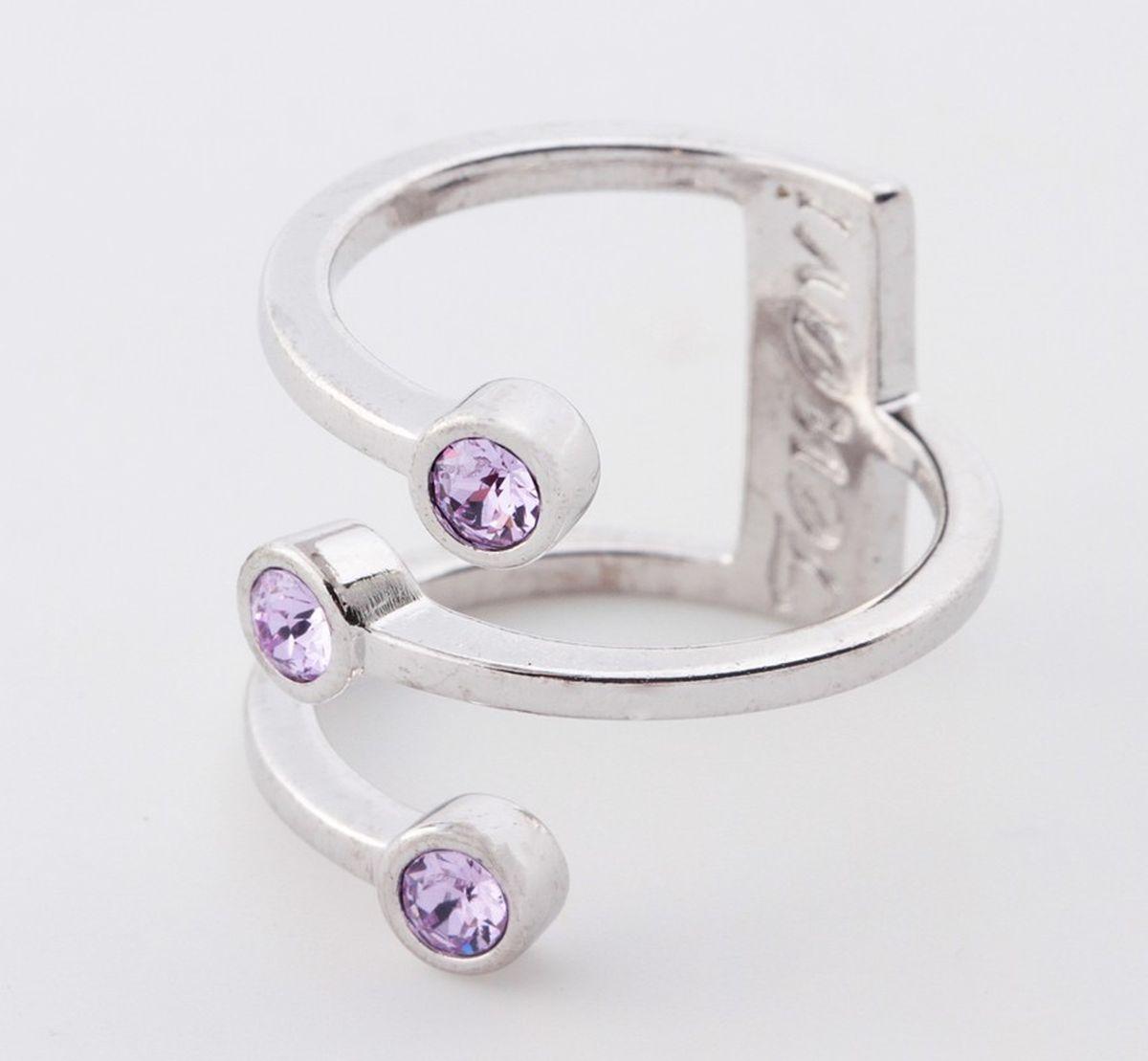 Jenavi, Коллекция Триада, Тримурти (Кольцо), цвет - серебряный, фиолетовый, размер - 20f696f050Коллекция Триада, Тримурти (Кольцо) гипоаллергенный ювелирный сплав,Серебрение c род. , вставка Кристаллы Swarovski , цвет - серебряный, фиолетовый, размер - 20
