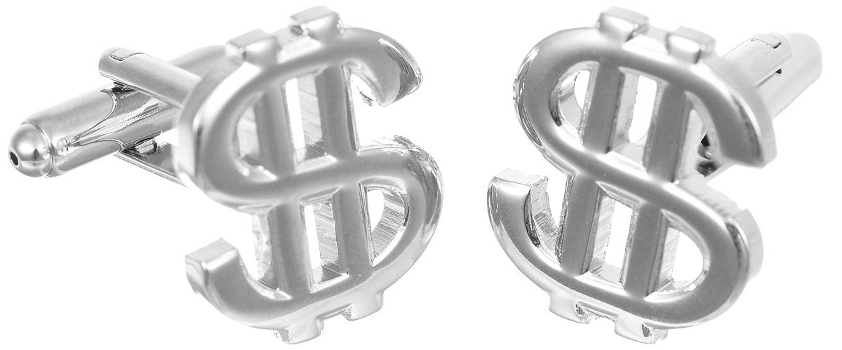 Запонки мужские Mitya Veselkov Доллар, цвет: серебряный. ZAP-051ZAP-051Запонки современного дизайна Mitya Veselkov Доллар изготовлены из металлического сплава. Изделие застегивается на вращающийся штырек. Данная модель представлена в виде знака доллара. Стильный аксессуар подчеркнет ваш образ, а также придаст элегантность и неповторимость имиджу.