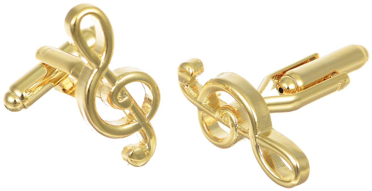 Запонки мужские Mitya Veselkov Скрипичный ключ, цвет: золотой. ZAP-160ZAP-160Запонки современного дизайна Mitya Veselkov Скрипичный ключ изготовлены из металлического сплава. Изделие застегивается на вращающийся штырек. Данная модель представлена в виде скрипичного ключа. Стильный аксессуар подчеркнет ваш образ, а также придаст элегантность и неповторимость имиджу.