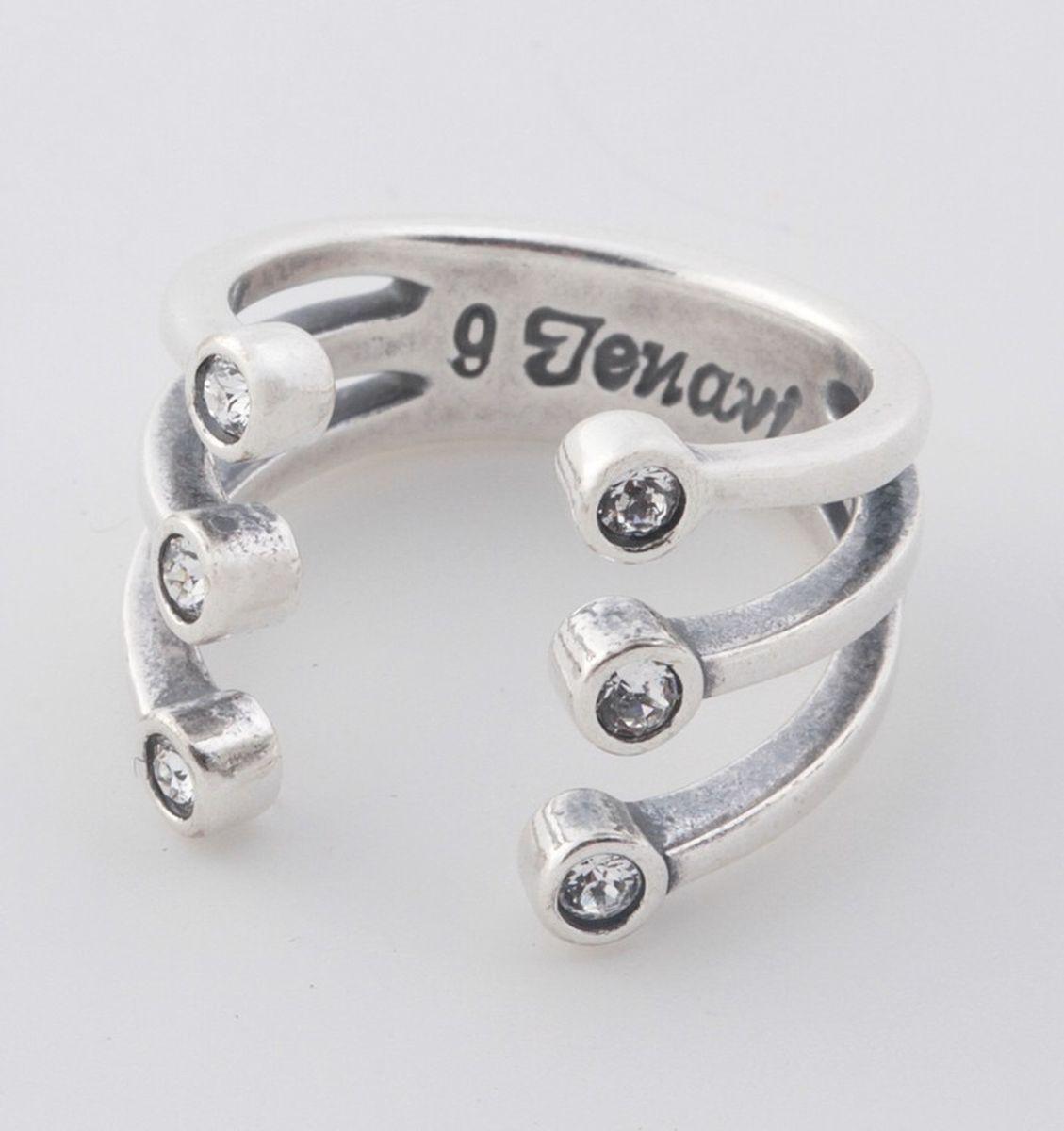 Jenavi, Коллекция Триада, Тринити (Кольцо), цвет - серебро, белый, размер - 20f6953000Коллекция Триада, Тринити (Кольцо) гипоаллергенный ювелирный сплав,Черненое серебро, вставка Кристаллы Swarovski , цвет - серебро, белый, размер - 20