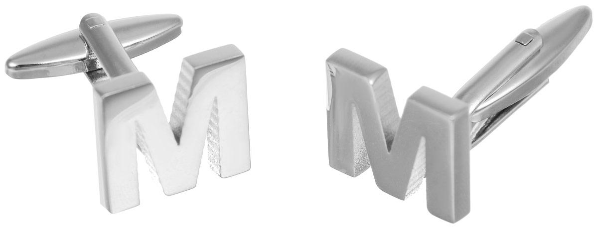Запонки мужские Mitya Veselkov Буква M, цвет: серебряный. ZAP-192ZAP-192Запонки современного дизайна Mitya Veselkov Буква M изготовлены из металлического сплава. Изделие застегивается на вращающийся штырек. Данная модель представлена в виде английской буквы М. Стильный аксессуар подчеркнет ваш образ, а также придаст элегантность и неповторимость имиджу.
