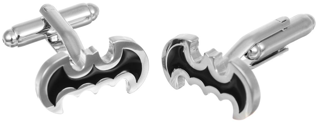 Запонки мужские Mitya Veselkov Летучая мышь, цвет: серебряный, черный. ZAP-031ZAP-031Запонки современного дизайна Mitya Veselkov Летучая мышь изготовлены из металлического сплава. Изделие застегивается на вращающийся штырек. Данная модель представлена в виде символа летучей мыши. Стильный аксессуар подчеркнет ваш образ, а также придаст элегантность и неповторимость имиджу.