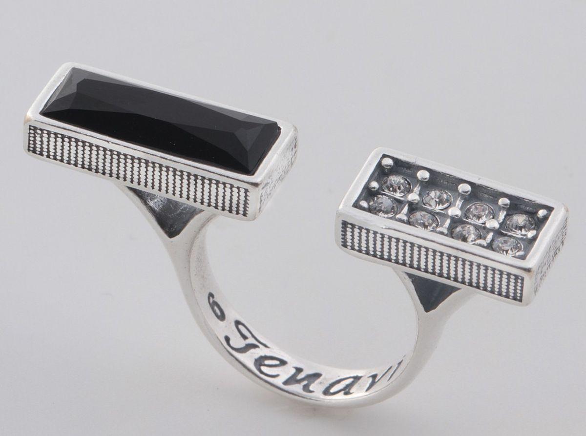 Jenavi, Коллекция Триада, Эллэра (Кольцо), цвет - серебро, мультиколор, размер - 20f7003070Коллекция Триада, Эллэра (Кольцо) гипоаллергенный ювелирный сплав,Черненое серебро, вставка Кристаллы Swarovski , цвет - серебро, мультиколор, размер - 20