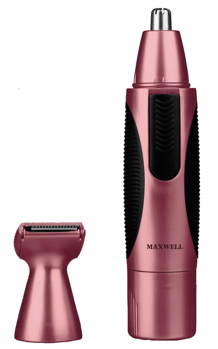 Maxwell MW-2801 триммер2801-MW-01Триммер Maxwell MW-2801 - специальный прибор для мужчин, с помощью которого можно удалять волосы из ушей и носа, а также при необходимости корректировать усы и бороду. Прибор имеет автономный источник питания - аккумуляторную батарейку типа АА напряжением 1.5В. Триммер Maxwell MW-2801 имеет элегантный водонепроницаемый корпус, который легко очищать от волос, удобную ручку с прорезиненными вставками. Лезвия для триммера изготовлены из высококачественной нержавеющей стали. В комплекте имеются две насадки для корректировки бакенбард, усов и бороды. Водонепроницаемый корпус для простоты использования и очистки Лезвия из высококачественной нержавеющей стали Насадка для корректировки линии бороды, усов, бакенбард Насадка для удаления волос из носа и ушей Удобная ручка