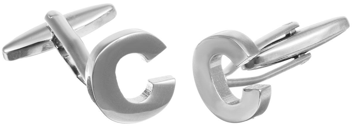 Запонки мужские Mitya Veselkov Буква C, цвет:серебряный. ZAP-255ZAP-255Запонки современного дизайна Mitya Veselkov Буква C изготовлены из металлического сплава. Изделие застегивается на вращающийся штырек. Данная модель представлена в виде английской буквы C. Стильный аксессуар подчеркнет ваш образ, а также придаст элегантность и неповторимость имиджу.