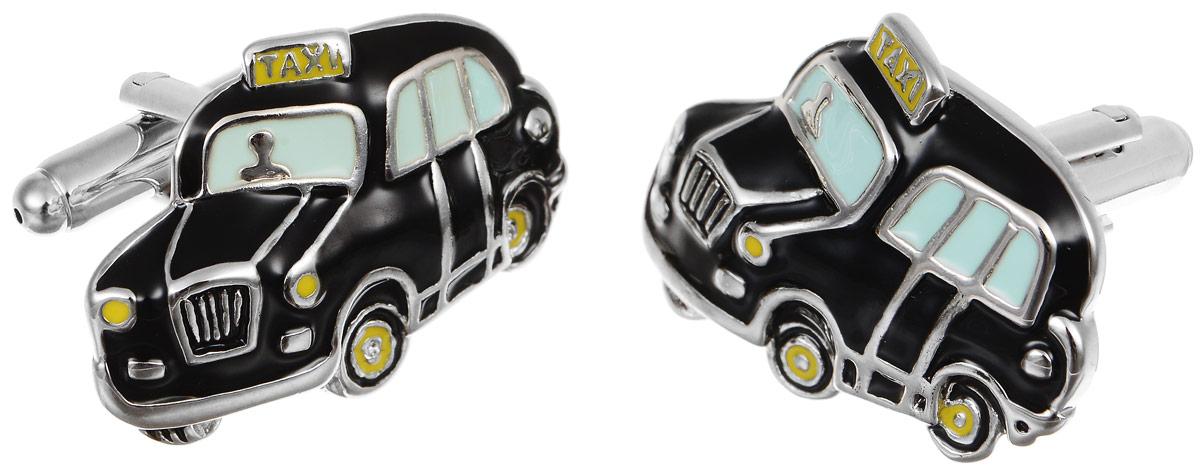 Запонки мужские Mitya Veselkov Такси, цвет: серебряный, черный. ZAP-144ZAP-144Запонки современного дизайна Mitya Veselkov Такси изготовлены из металлического сплава. Изделие застегивается на вращающийся штырек. Данная модель представлена в виде машины такси. Стильный аксессуар подчеркнет ваш образ, а также придаст элегантность и неповторимость имиджу.
