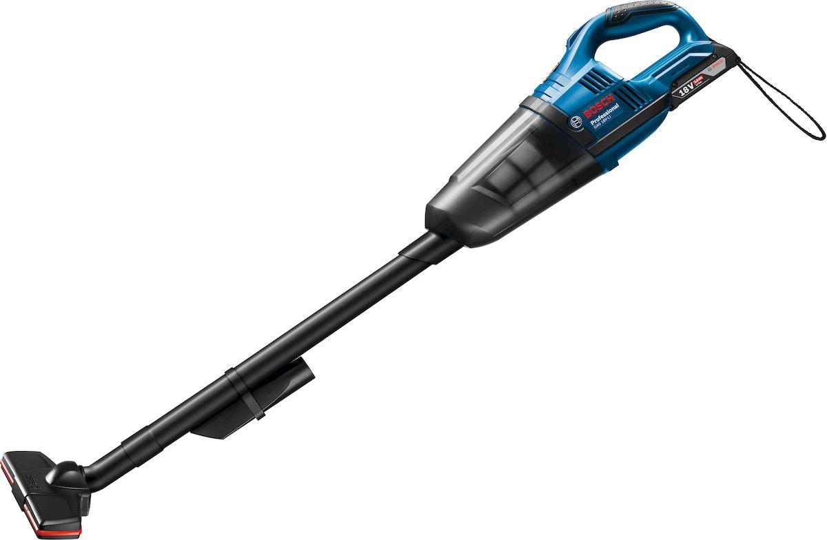 Аккумуляторный пылесос Bosch GAS 18 V-Li. 06019C610006019C6100Bosch GAS 18 V-Li - универсальный аккумуляторный ручной пылесос с высокой мощностью всасывания. Мобильность, легкость и эффективность — это все доступно с мощным аккумулятором 18 В и высокой производительностью всасывания. Постоянная готовность к работе обеспечивается благодаря литий-ионной технологии оригинальных аккумуляторов. Для данного прибора имеется широкий набор принадлежностей (насадки, трубки) для различного применения. С их помощью вы можете комфортно осуществлять очистку полов, мягкой мебели и удаление пыли в труднодоступных местах. Bosch GAS 18 V-Li оснащен легко очищаемым пылесборником и высокоэффективным фильтром НЕРА. Удобство использования также обеспечивается благодаря компактному исполнению и рукоятке с мягкой накладкой. Комплектация: Удлинительная труба Напольной насадке Щелевая насадка с держателем Аккумулятор в комплект не входит