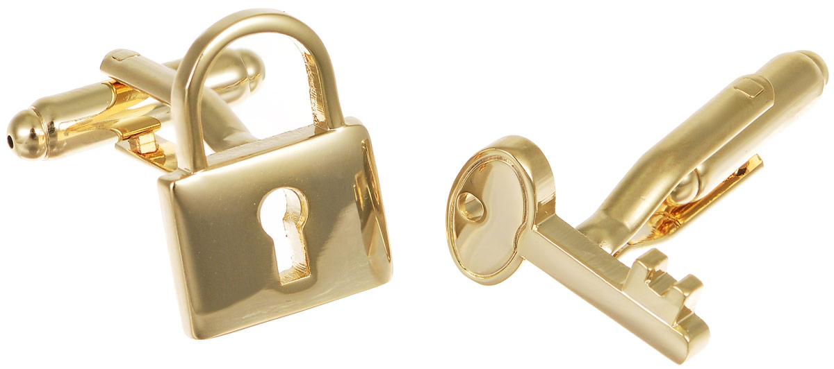 Запонки мужские Mitya Veselkov Замок и ключ, цвет: золотой . ZAP-170ZAP-170Запонки современного дизайна Mitya Veselkov Замок и ключ изготовлены из металлического сплава. Изделие застегивается на вращающийся штырек. Одна запонка имеет форму замка, другая - форму ключа. Стильный аксессуар подчеркнет ваш образ, а также придаст элегантность и неповторимость имиджу.