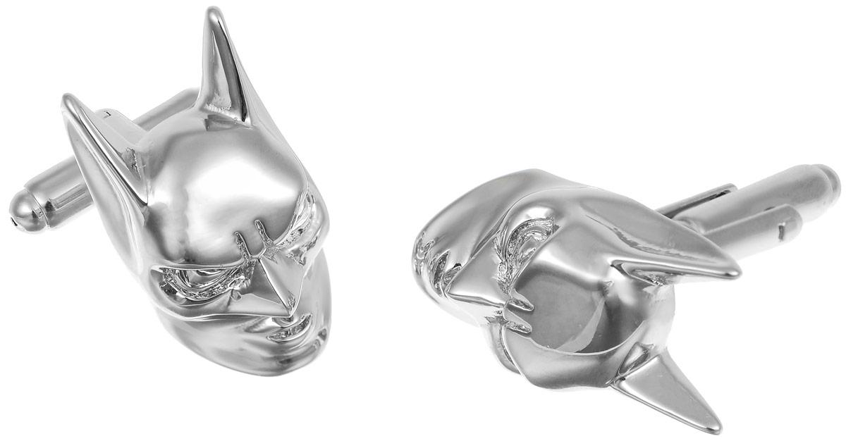 Запонки мужские Mitya Veselkov Маска Бэтмена, цвет: серебряный. ZAP-184ZAP-184Запонки современного дизайна Mitya Veselkov Маска Бэтмена изготовлены из металлического сплава. Изделие застегивается на вращающийся штырек. Данная модель представлена в виде маски супергероя Бэтмена . Стильный аксессуар подчеркнет ваш образ, а также придаст элегантность и неповторимость имиджу.