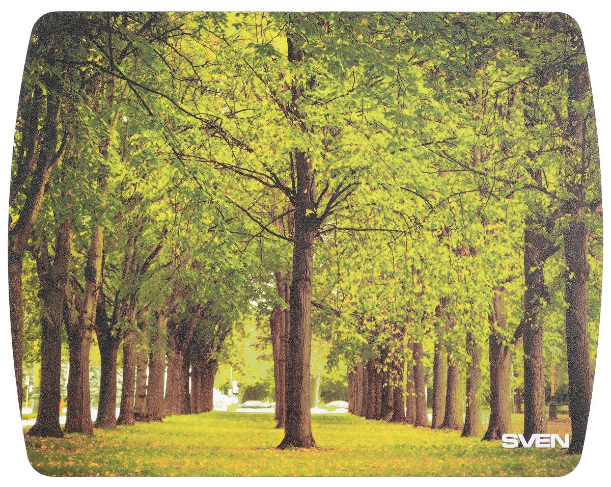 Sven UA, Green Brown коврик для мыши коврик для мыши pcpet colorfull nature rgm02 голубой с рисунком 648600