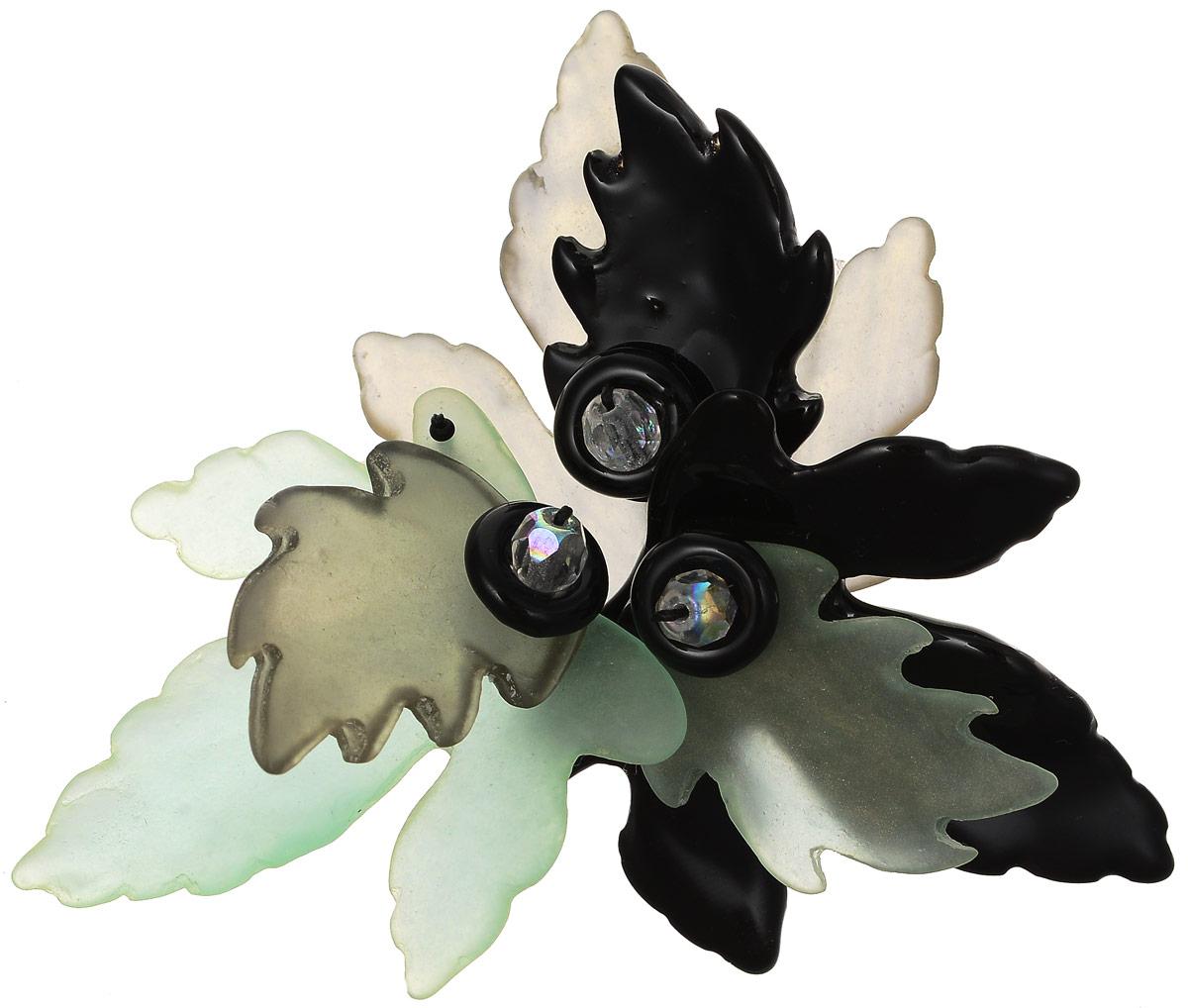 Брошь Lalo Treasures Autumn, цвет: зеленый, черный. 17551755Яркая дизайнерская брошь от Lalo Treasures станет отличным дополнением к вашему стилю. Она изготовлена из качественной ювелирной смолы и металлического сплава. Данная брошь выполнена в виде цветка, составленного из фигурок разного размера и цвета. Брошь надежно и легко фиксируется на вашей одежде с помощью замка-булавки. Оригинальный дизайн позволит вашему образу быть ещё ярче и создать собственный неповторимый стиль.
