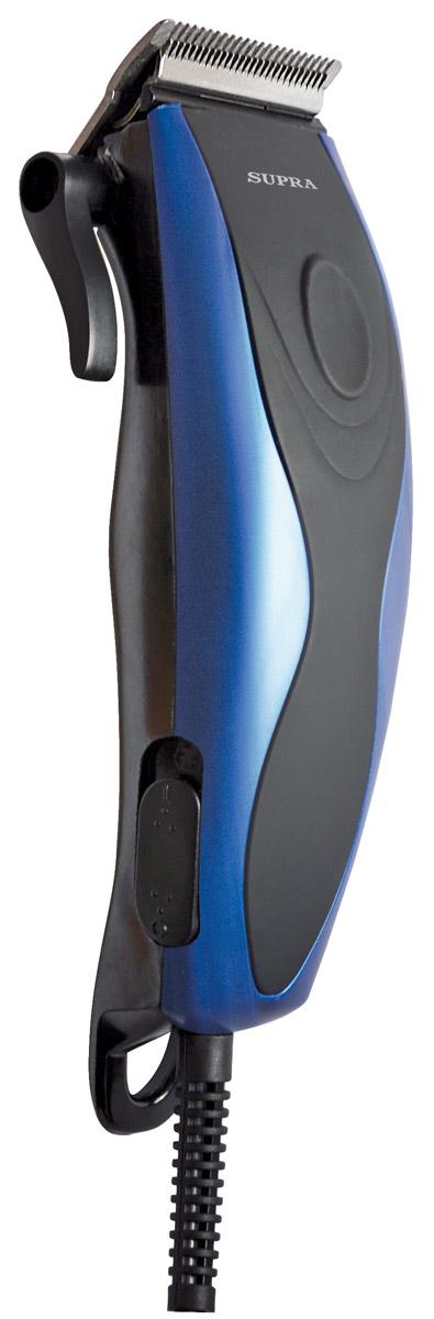 Supra HCS-203 машинка для стрижкиHCS-203Машинка для стрижки волос Supra HCS-203. Плавная регулировка длины стрижки осуществляется при помощи четырех насадок 3-12 мм, идущих в комплекте с устройством. Корпус выполнен из материала, который не позволяет машинке выскальзывать из рук. Современный и эргономичный дизайн. Красивую и модную прическу теперь можно сделать не только в парикмахерской, но и дома.