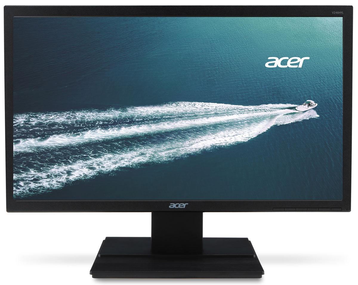 Acer V246HLbid, Black мониторV246HLbidМонитор Acer V246HLbid — это окно в новый мир. Благодаря разрешению Full HD 1080p, превосходной скорости отклика и высокому коэффициенту контрастности, обеспечиваемому технологией Adaptive Contrast Management, вы сможете наслаждаться просмотром изображения невероятного качества. А благодаря технологии Acer eColor Management ваш мир заиграет всеми красками. Монитор Acer V246HLbid оснащен полным набором функций для улучшения качества изображения, которые подарят вашим глазам комфорт и защиту. Дополнительным преимуществом монитора является эргономичная наклоняемая подставка, которую вы можете регулировать так, как вам удобно. Монитор Acer V246HLbid вносит свой вклад в поддержку экологических технологий. Он соответствует различным экологическим стандартам и не содержит ртути и мышьяка.