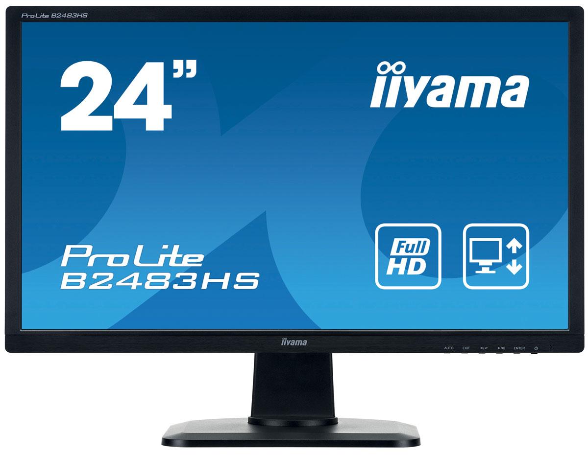 iiyama B2483HS-B1, Black мониторB2483HS-B1ProLite B2483HS — высококачественный 24-дюймовый Full HD-дисплей, оснащенный светодиодной подсветкой и поддерживающий разрешение 1920 x 1080 пикселей. Уровень динамического контраста этой модели превышает 12 000 000:1, а время отклика пикселей составляет всего 2 мс, что позволяет монитору демонстрировать отличное качество изображения. Подставка позволяет разворачивать и поворачивать ProLite B2483HS, а также регулировать положение экрана по высоте в диапазоне 13 см. Это делает этот монитор пригодным для широкого спектра применений, особенно в тех случаях, когда эргономика и многофункциональность рабочего места являются ключевыми факторами. Монитор имеет сертификаты TCO и Energy Star. Модель идеально подойдет для образовательных, государственных, бизнес-структур и финансовых организаций.