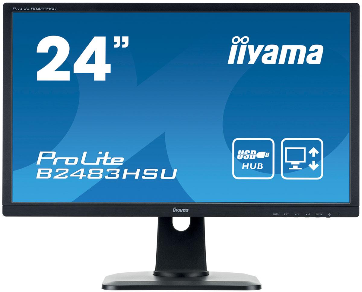 iiyama B2483HSU-B1DP, Black монитор