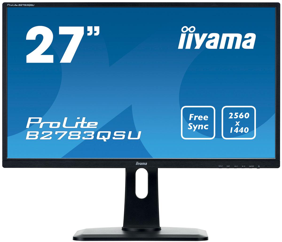 iiyama B2783QSU-B1, Black мониторB2783QSU-B1Монитор iiyama B2783QSU-B1 обеспечивает аккуратное и четкое воспроизведение цветов, широкие углы обзора и высокое разрешение экрана 2560х1440. Его эргономичная подставка обеспечивает регулировку по высоте 13 см, разворот и поворот монитора, что делает этот дисплей идеальным для широкого спектра приложений и сред, в которых гибкость и эргономика на рабочем месте являются ключевыми факторами. Этот монитор поддерживает технологию FreeSync, предлагая геймерам насладиться плавной работой видеоподсистемы ПК. Три разъема подключения (DVI и HDMI/DisplayPort) и USB-хаб обеспечивают совместимость с настольным ПК или ноутбуком.