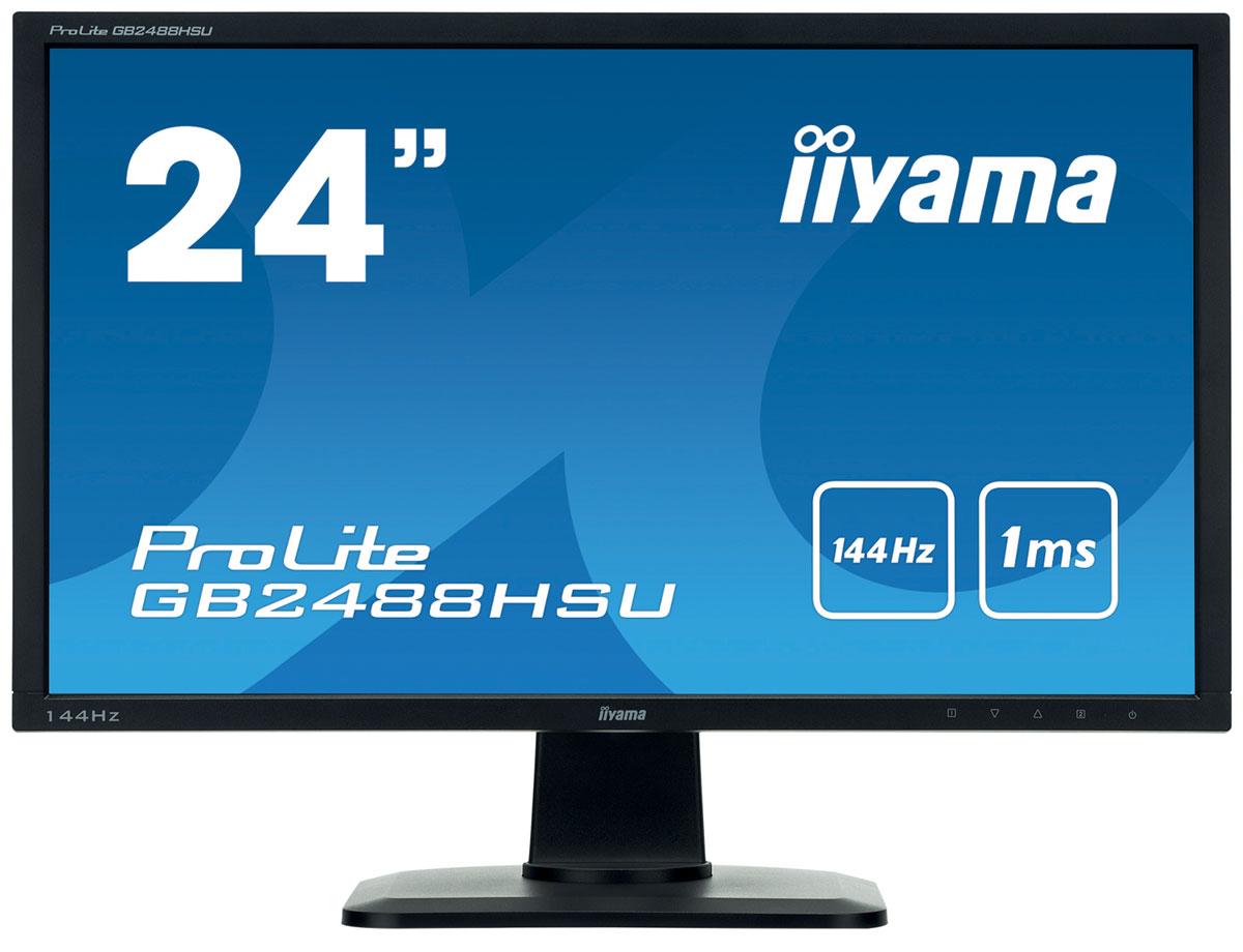 iiyama GB2488HSU-B1, Black мониторGB2488HSU-B1ProLite GB2488HSU — это передовой монитор для настоящих фанатов компьютерных игр, который способен обеспечить им превосходство в ситуациях, требующих принятия мгновенных и предельно точных решений. Минимальное время отклика ЖК-матрицы, которое составляет всего 1 мс, гарантирует плавность и четкость, а также отсутствие смазывания и мерцания при смене кадров. А благодаря высокой частоте регенерации изображения 144 Гц монитор сохраняет стабильность изображения даже в самых динамичных играх. Эргономичная регулируемая подставка позволит каждому пользователю подобрать наиболее комфортное для себя положение экрана. Дисплеи ProLite GB2488HSU отлично подходят для стратегий и шутеров от первого лица и станут прекрасным выбором для наиболее требовательных игроков.