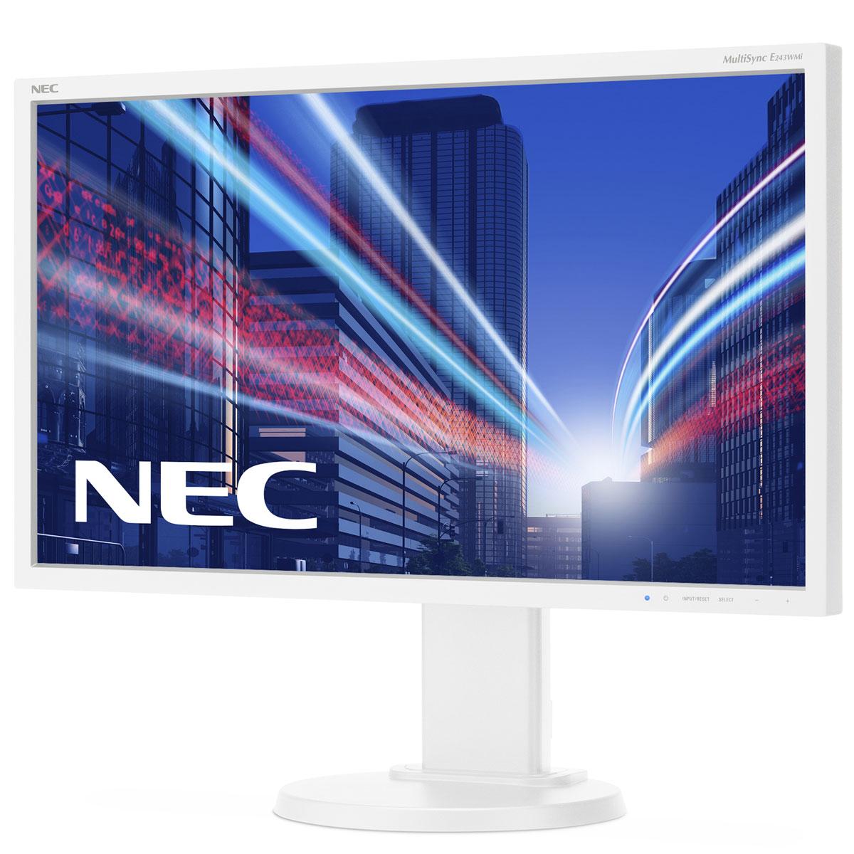 NEC E243WMi, White монитор