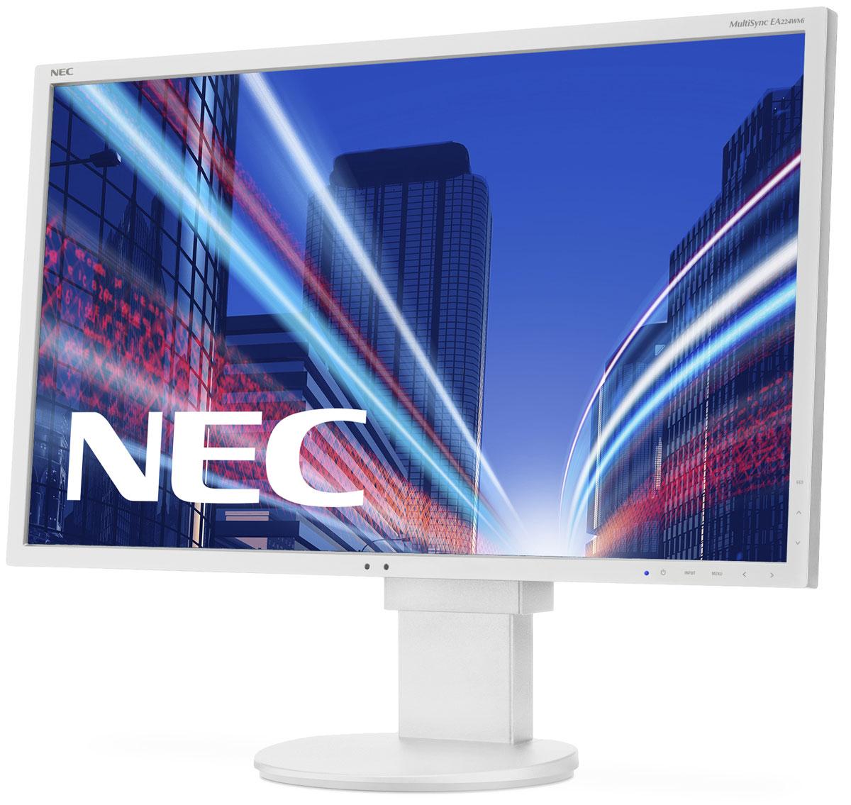 NEC EA224WMi, White мониторEA224WMIМодель EA224WMi от NEC MultiSync обладает очень тонкой панелью со светодиодной подсветкой и IPS-технологией, что обеспечивает ультрасовременный и ультратонкий дизайн в сочетании с характеристиками, идеальными для корпоративного офисного использования. Датчик рассеянного света и датчик присутствия являются стандартными характеристиками данной модели, кроме того, модель обладает улучшенными эргономическими характеристиками, например, механизмом регулирования высоты до 130 мм. Дисплей также располагает широкими возможностями соединения, 3 входами: DisplayPort, DVID и D-Sub. Благодаря превосходному качеству изображения IPS с широким углом обзора в формате экрана 16:9 данная модель обладает высоким уровнем эргономического комфорта. Датчик рассеянного света – благодаря функции автоматической яркости Auto Brightness всегда можно оптимизировать уровень яркости в зависимости от освещения и условий изображения. Датчик присутствия человека – определяет присутствие человека перед...