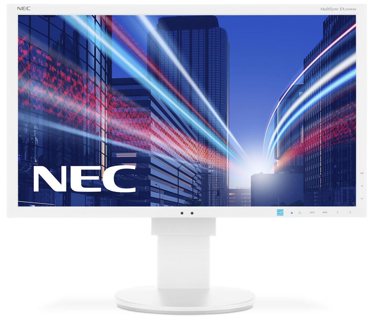 NEC EA234WMi, White мониторEA234WMiМонитор NEC EA234WMi обладает очень тонкой панелью со светодиодной подсветкой и IPS-технологией, что обеспечивает ультрасовременный и ультратонкий дизайн в сочетании с характеристиками, идеальными для корпоративного офисного использования. Датчик рассеянного света и датчик присутствия являются стандартными характеристиками данной модели, кроме того, модель обладает улучшенными эргономическими характеристиками, например, механизмом регулирования высоты до 130 мм. Дисплей также располагает широкими возможностями соединения, 3 входами: DisplayPort, DVI-D и D-Sub. Благодаря превосходному качеству изображения IPS с широким углом обзора в формате экрана 16:9 данная модель обладает высоким уровнем эргономического комфорта. Датчик рассеянного света - благодаря функции автоматической яркости Auto Brightness всегда можно оптимизировать уровень яркости в зависимости от освещения и условий изображения. Датчик присутствия человека - определяет присутствие...