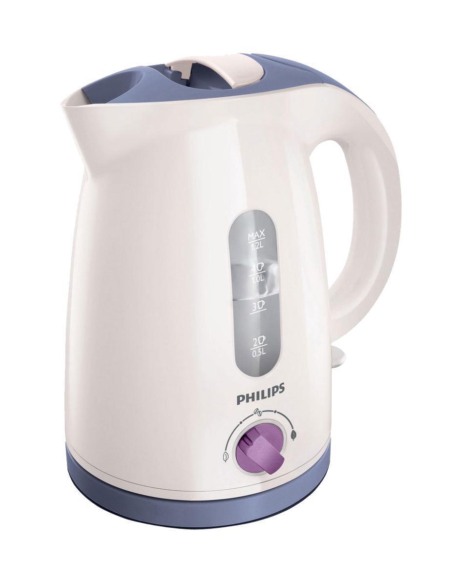 Philips HD 4678/40, White Violet электрочайникHD4678/40Чтобы получить наслаждение от восхитительного аромата горячих напитков, их необходимо готовить при оптимальной температуре: температура приготовления зеленого чая должна составлять до 80°C, растворимого кофе - 90 °C, а черного чая, горячего шоколада и супа - 100°C. Установите необходимую настройку с помощью регулятора и наслаждайтесь вкусом любимого напитка. Регулятор температуры для наслаждения восхитительным ароматом Регулятор температуры для наслаждения восхитительным ароматом напитков. Катушка для удобного хранения шнура Шнур оборачивается вокруг основания, что позволяет легко разместить чайник на кухне. Фильтр от накипи обеспечивает чистоту воды Фильтр от накипи обеспечивает чистоту воды и чайника Беспроводная подставка с поворотом на 360° для удобства использования. Индикатор воды по чашкам позволяет вскипятить столько воды, сколько нужно Если вы кипятите ровно столько воды, сколько нужно, вы экономите...