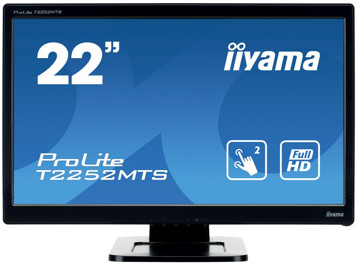 iiyama T2252MTS-B3, Black мониторT2252MTS-B3Монитор iiyama T2252MTS-B3 обеспечивает аккуратное и четкое воспроизведение цветов, широкие углы обзора и разрешение Full HD. Его эргономичная подставка обеспечивает разворот и поворот монитора, что делает этот дисплей идеальным для широкого спектра приложений и сред, в которых гибкость и эргономика на рабочем месте являются ключевыми факторами. Три разъема подключения обеспечивают совместимость с настольным ПК или ноутбуком. Монитор оснащен сенсорной оптической технологией. Эта технология использует в камеры. Прикосновение к экрану распознается с высокой точностью, когда свет блокируется пальцем или стилусом. Эта технология не полагается на отдачу от покрытия или подложки, поэтому сенсорный дисплей не может стереться. На деле, вам даже не нужно прикасаться к экрану.