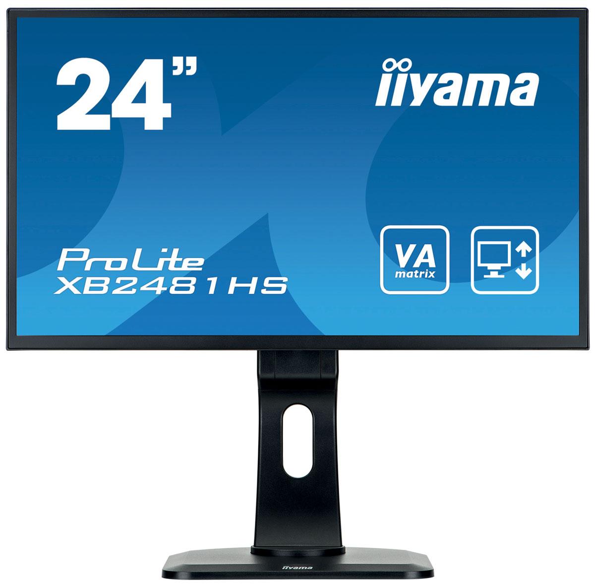iiyama XB2481HS-B1, Black мониторXB2481HS-B1iiyama XB2481HS-B1 - высококачественный 24-дюймовый Full HD-дисплей, оснащенный светодиодной подсветкой и панелью MVA, гарантирующей точное и последовательное воспроизведение цвета с широкими углами обзора. Уровень динамического контраста этой модели превышает 12 000 000:1, а время отклика пикселей составляет 6 мс, что позволяет монитору демонстрировать отличное качество изображения. Наличие трех портов ввода обеспечивает полную совместимость со всеми новейшими графическими адаптерами. Эргономичная подставка обеспечивает регулировку по высоте 13 см, разворот и поворот монитора, что делает этот дисплей идеальным для широкого спектра приложений и сред, в которых гибкость и эргономика на рабочем месте являются ключевыми факторами. Монитор имеет сертификаты TCO и Energy Star. Модель идеально подойдет для образовательных, государственных, бизнес-структур и финансовых организаций.