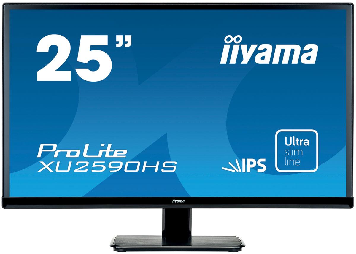 iiyama XU2590HS-B1, Black мониторXU2590HS-B1iiyama XU2590HS-B1 - высококачественный 25-дюймовый Full HD-дисплей, оснащенный светодиодной подсветкой и IPS панелью, гарантирующей точное и последовательное воспроизведение цвета с широкими углами обзора. Уровень динамического контраста этой модели превышает 5 000 000:1, а время отклика пикселей составляет 5 мс, что позволяет монитору демонстрировать отличное качество изображения. Наличие трех портов ввода обеспечивает полную совместимость со всеми новейшими графическими адаптерами. Монитор имеет сертификаты TCO и Energy Star. Модель идеально подойдет для образовательных, государственных, бизнес-структур и финансовых организаций.