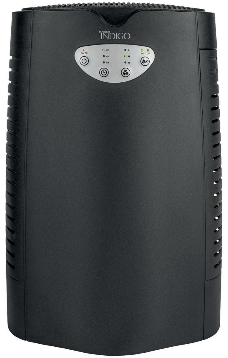 Scarlett IS-AP7801, Black очиститель воздухаIS-AP7801Очиститель воздуха Scarlett IS-AP7801 с ультрафиолетовой лампой и встроенным ионизатором помогает поддерживать в помещении оптимальную для самочувствия человека воздушную среду. HEPA-фильтр класса H13 очищает воздух от различных загрязнений: пыли, пылевых клещей и других микроскопических паразитов, спор плесени, цветочной пыльцы, бактерий. Угольный фильтр эффективно устраняет неприятные запахи табачного дыма, никотина, сернистого и угарного газа, различных химических загрязнений воздуха. Воздух дополнительно обеззараживается излучением ультрафиолетовой лампы находящейся внутри прибора. Использование УФ-излучения является хорошо изученной, безопасной и положительно зарекомендованной технологией, широко применяемой в лечебных учреждениях более 50 лет для устранения инфекционных микроорганизмов. УФ-излучение позволяет уничтожить находящиеся в воздухе болезнетворные бактерии и микробы, в том числе все вирусы гриппа, при их прохождении через отверстия воздухозаборника...