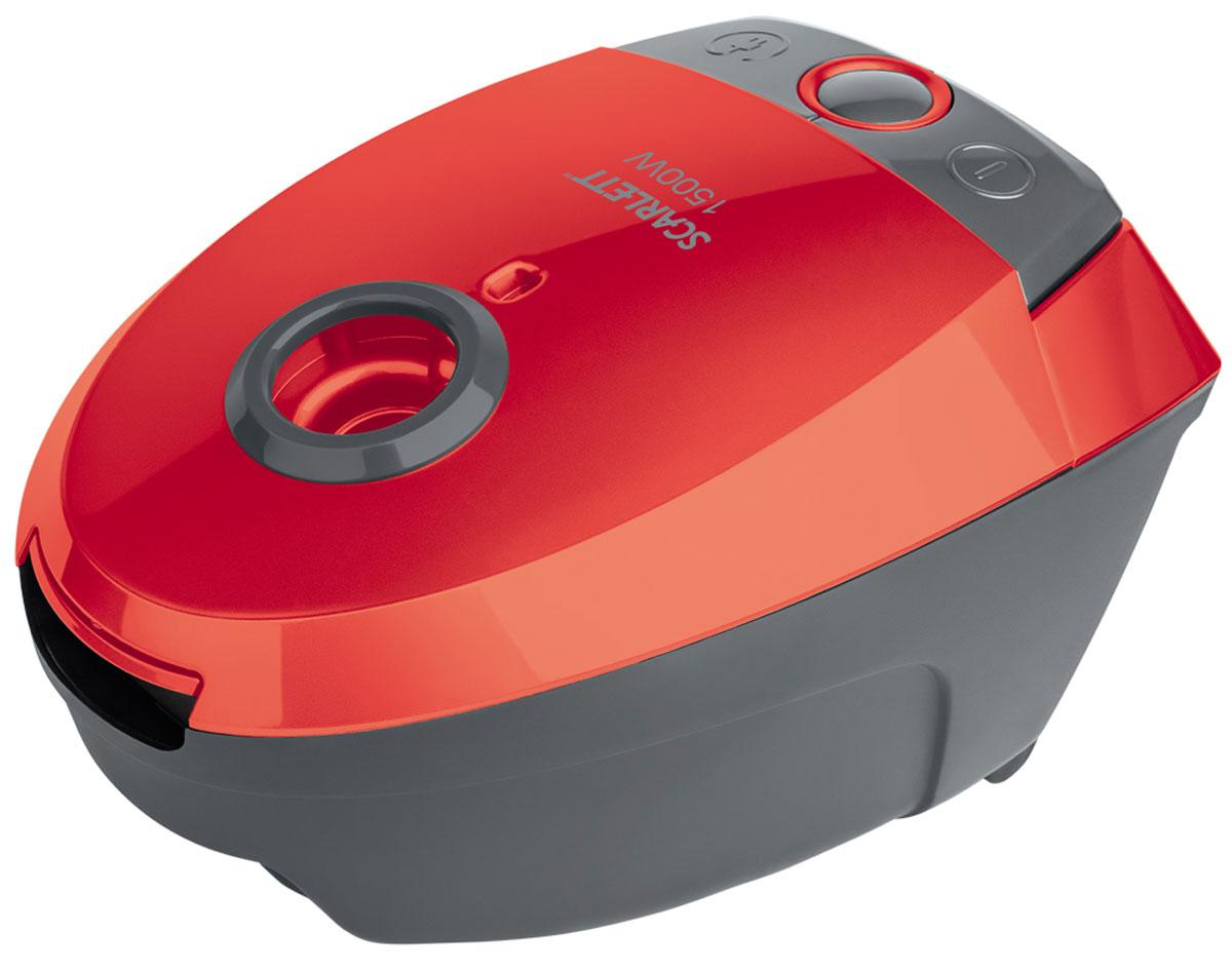 Scarlett SC-VC80B07, Red пылесосSC-VC80B07Scarlett SC-VC80B07 - мощный и надежный пылесос, который избавит дом от грязи, пыли, аллергенов. Многоразовый мешок Dust-trap задерживает мельчайшие частицы пыли, поддерживая здоровую атмосферу в доме. Специальный индикатор, расположенный на эргономичном корпусе оповестит о заполнении пылесборника. 2 постоянных антистатических фильтра грубой очистки защищают мотор от загрязнения и предотвращают повторное попадание пыли в помещение в процессе уборки. Устройство обладает высокой маневренностью и набором специальных насадок, благодаря чему вы можете убрать пыль даже в самых труднодоступных местах. Возможность включения и выключения ногой Ручка для удобства переноски
