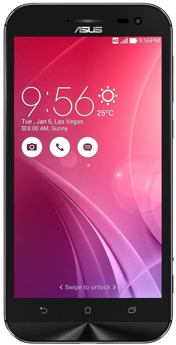 ASUS ZenFone Zoom ZX551ML, Black + вспышка (90AZ00X1-M01200)90AZ00X1-M01200Asus ZenFone Zoom ZX551ML - это самый тонкий в мире смартфон с системой 3-кратного оптического увеличения. Максимальное же увеличение, доступное с его 10-элементным объективом Hoya, составляет 12 раз. ZenFone Zoom - это смартфон с классическим дизайном, выполненный в тонком (толщина от 5 мм) корпусе, основу которого составляет прочный цельнометаллический каркас. С холодным металлом контрастирует теплая кожаная отделка задней панели. Технологический процесс изготовления корпуса состоит из 201 этапа. Результатом является шедевр, с которым не хочется расставаться всю жизнь. Отличительной особенностью ZenFone Zoom является высококачественная тыловая камера с 3-кратным оптическим увеличением. В рамках технологии PixelMaster в устройстве реализовано множество функций, направленных на повышение качества фотоснимков, включая систему оптической стабилизации изображения, двухцветную вспышку Real Tone и моментальную лазерную автофокусировку, которая...