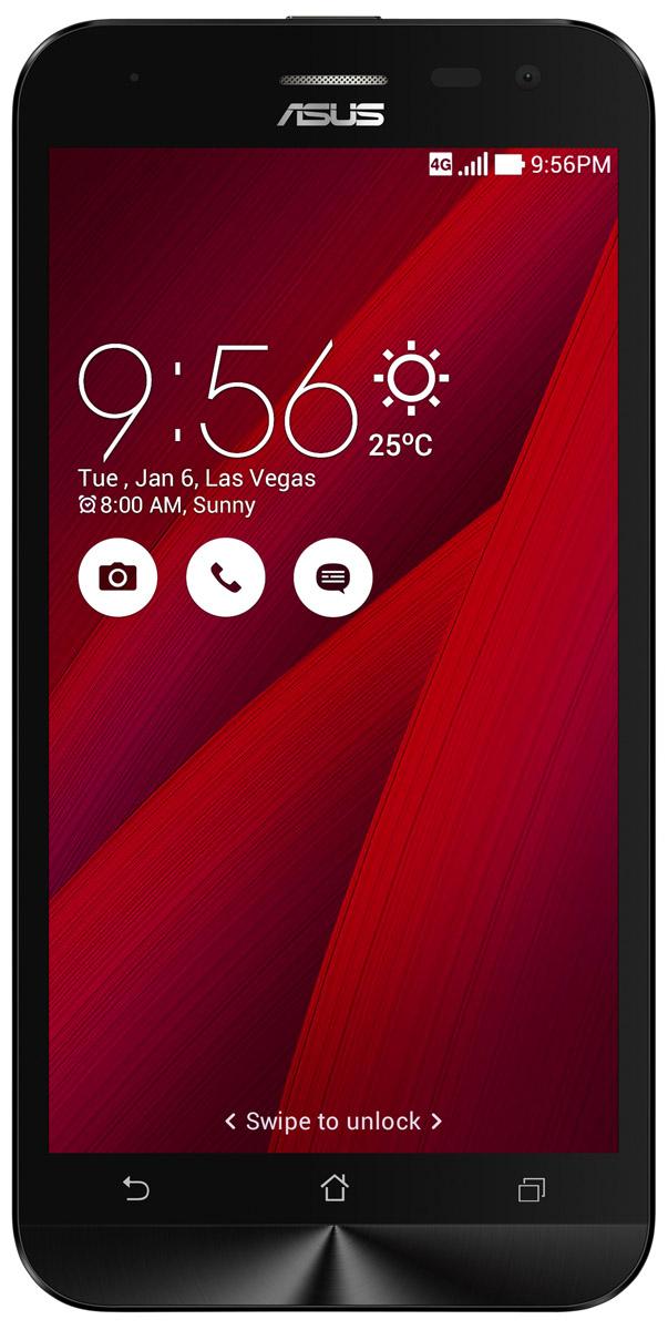 ASUS ZenFone 2 Laser ZE500KL 32GB, Red (90AZ00E3-M04740)90AZ00E3-M04740Смартфон ZenFone 2 Laser (ZE500KL) выполнен в изящном корпусе, толщина боковых граней которого составляет всего 3,5 мм. Обладая эргономичной формой, он украшен традиционным для мобильных устройств ASUS узором из концентрических окружностей с углублениями размером 0,13 мм. Продуманная эргономика: ZenFone 2 Laser выполнен в эргономичном корпусе, который удобно ложится в ладонь. Оригинальным и весьма удобным решением в его дизайне является расположенная на задней панели корпуса кнопка, с помощью которой можно делать фотоснимки, изменять громкость звука и т.д. Меньше - лучше! Дополнительной компактности корпуса ZenFone 2 Laser (ZE500KL) удалось добиться за счет уменьшения толщины экранной рамки. Отношение размера экрана к размеру передней панели составляет целых 70%! Идеальный баланс между производительностью и временем автономной работы: За высокую скорость работы ZenFone 2 Laser (ZE500KL) в различных приложениях отвечает...